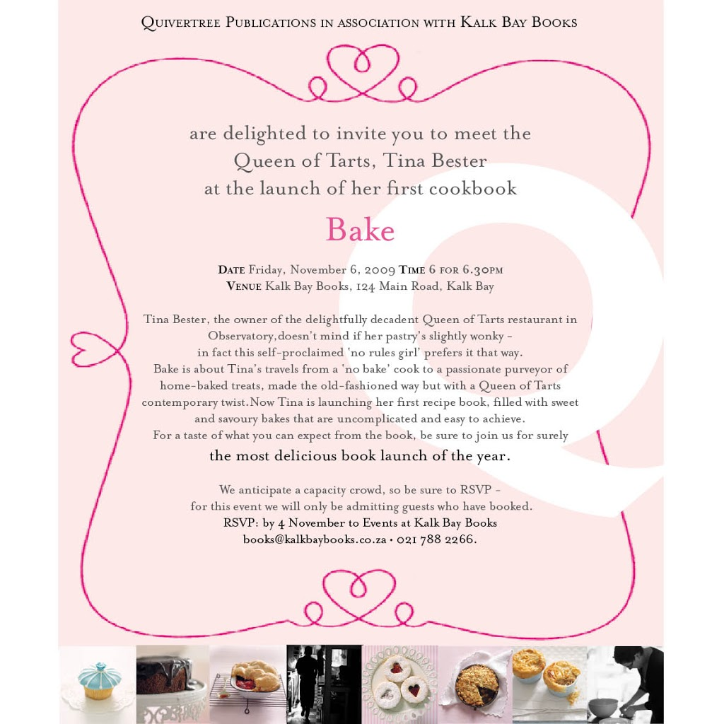 Bake launch at Kalk Bay Books
