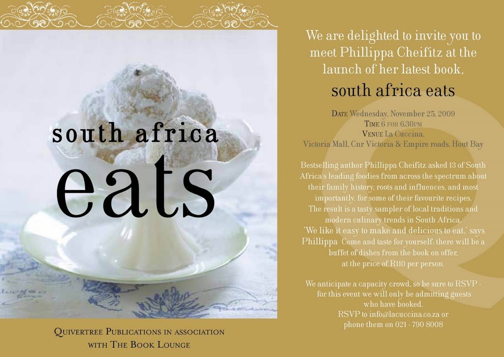 'South Africa Eats' launch invitation