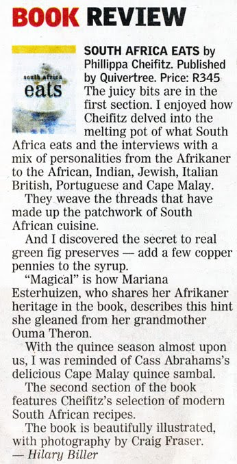 South Africa Eats in the Sunday Times