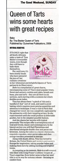 Bake Review in the Good Weekend