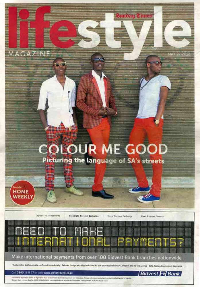 Sunday Times Lifestyle Magazine covers Sharp Sharp