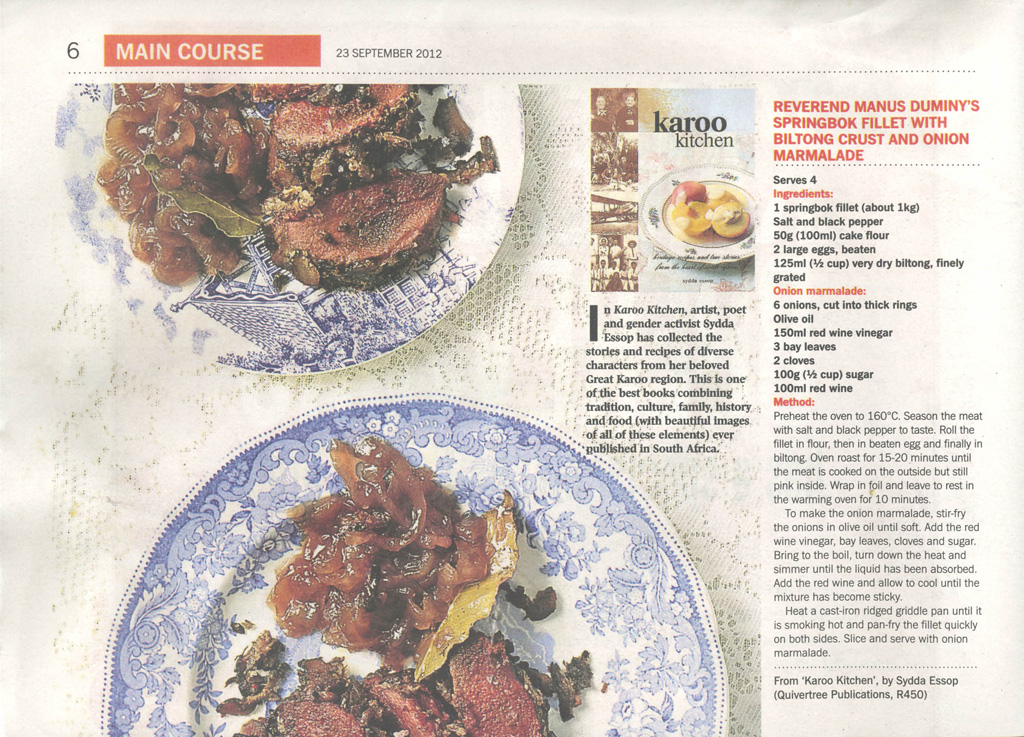 The Sunday Times on Karoo Kitchen