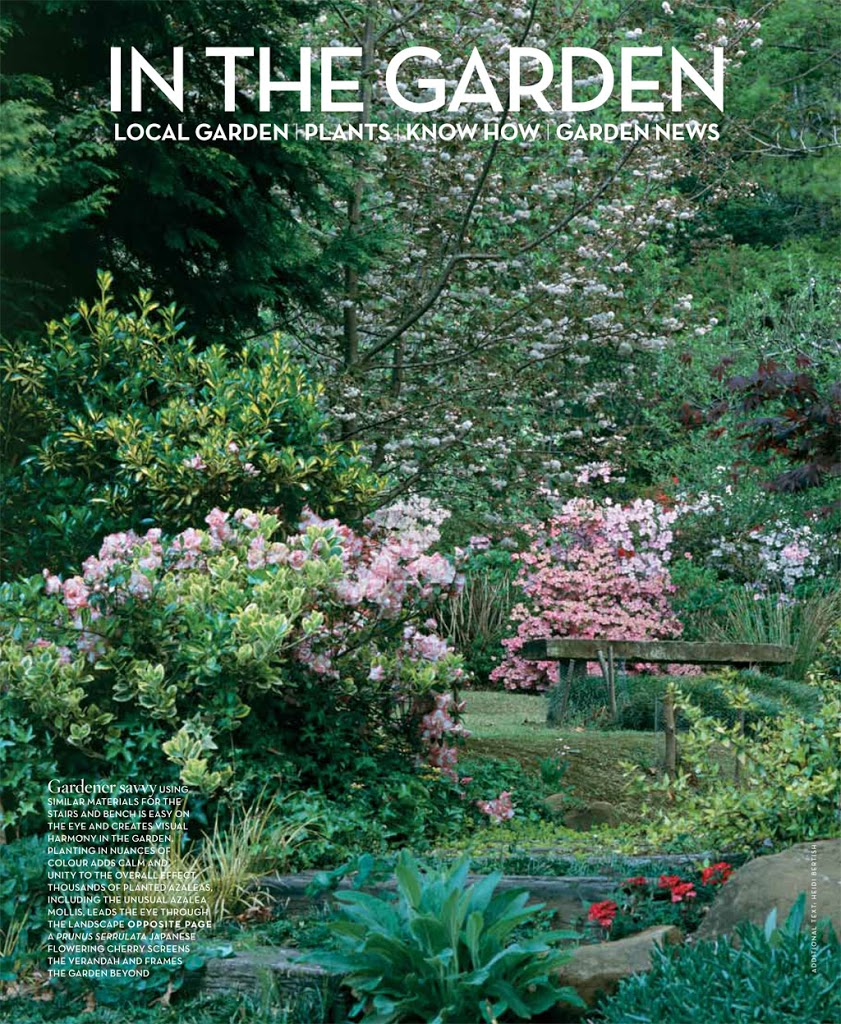 Remarkable Gardens of South Africa feature in Conde Nast House & Garden Magazine November 2012