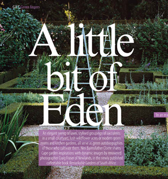 "Remarkable Gardens of South Africa feature in Cape Town's Get It magazine – ""A Little Bit of Eden"""
