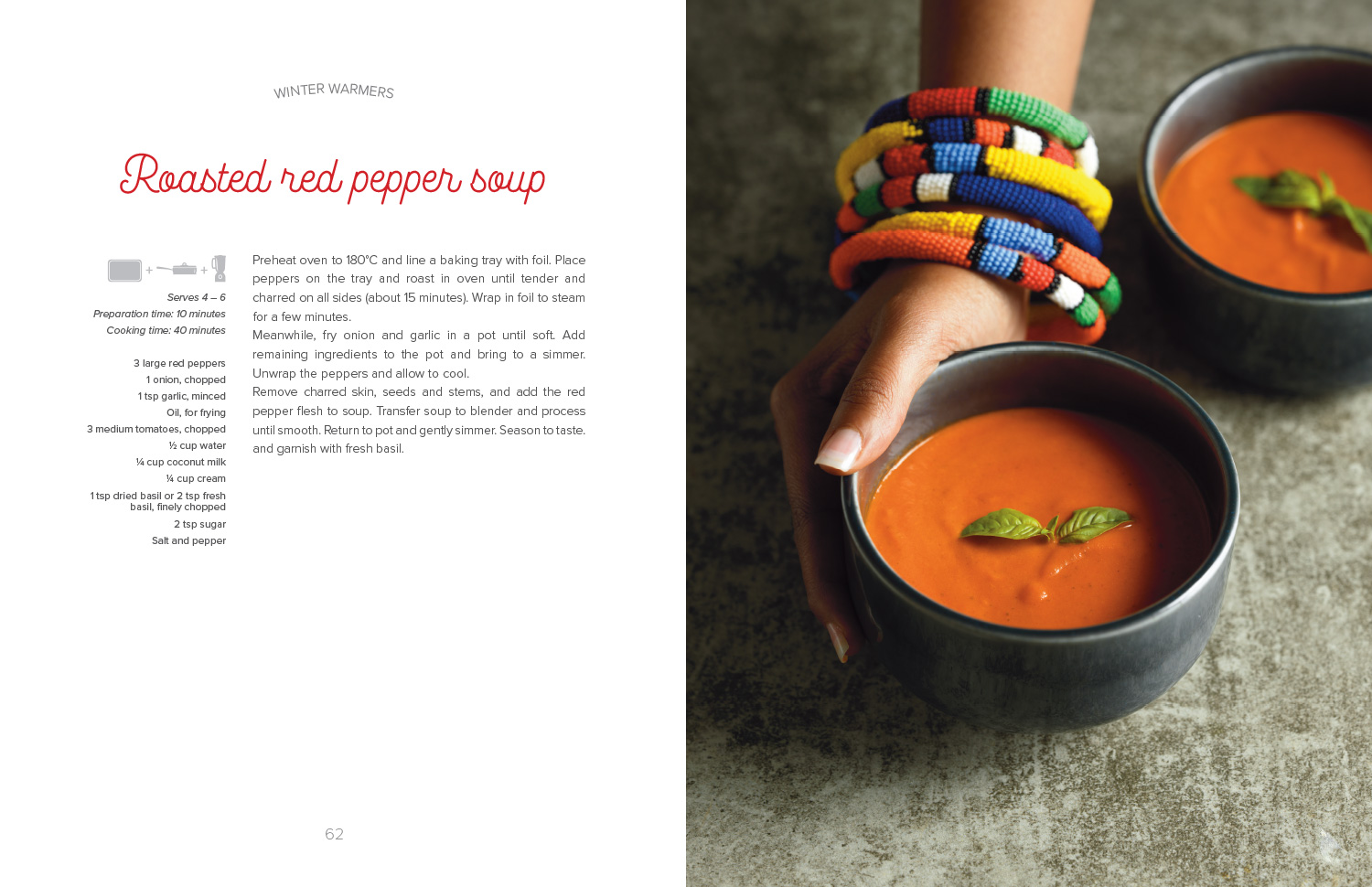 Roasted red pepper soup from The Lazy Makoti's Guide to the Kitchen