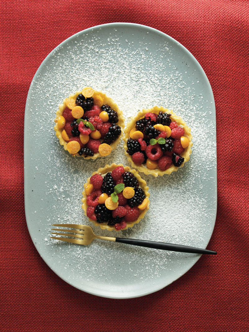 Summer berry tarts