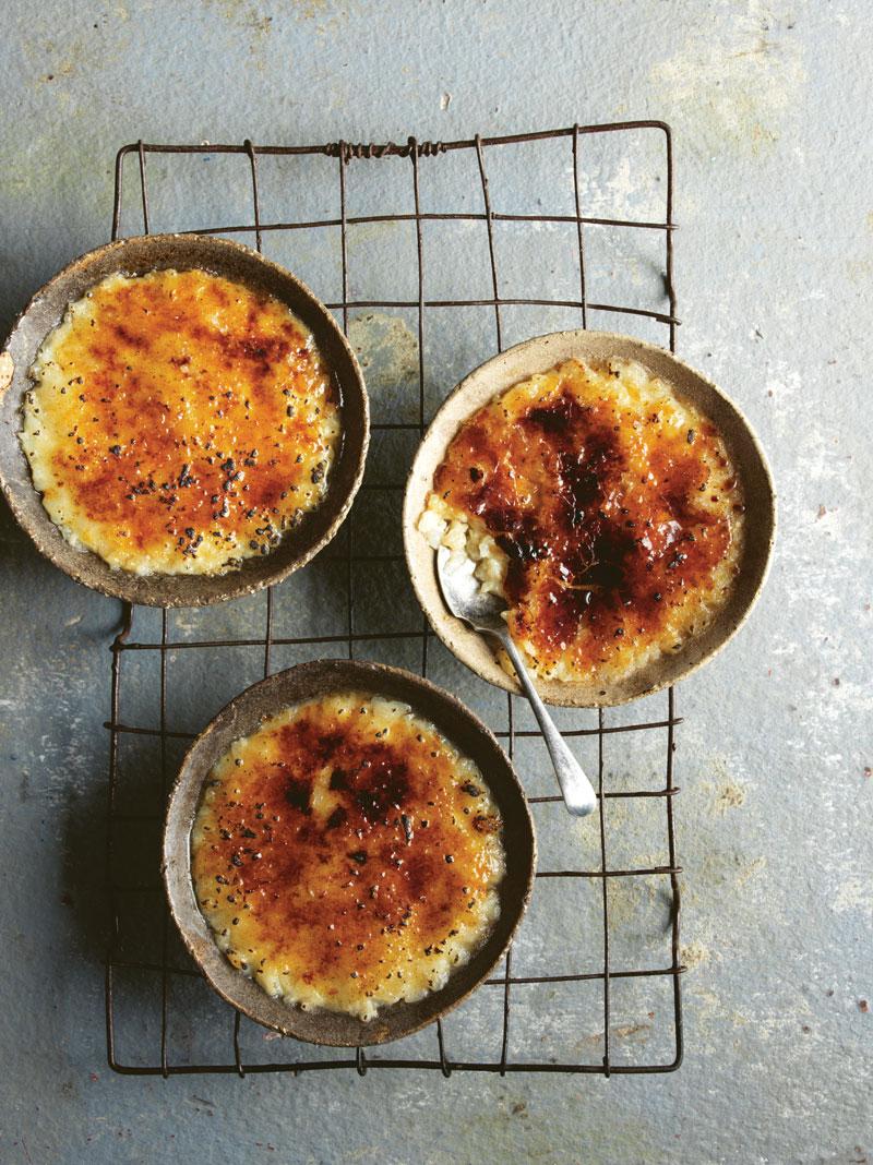 Arroz doce brûlée (rice pudding brûlée)