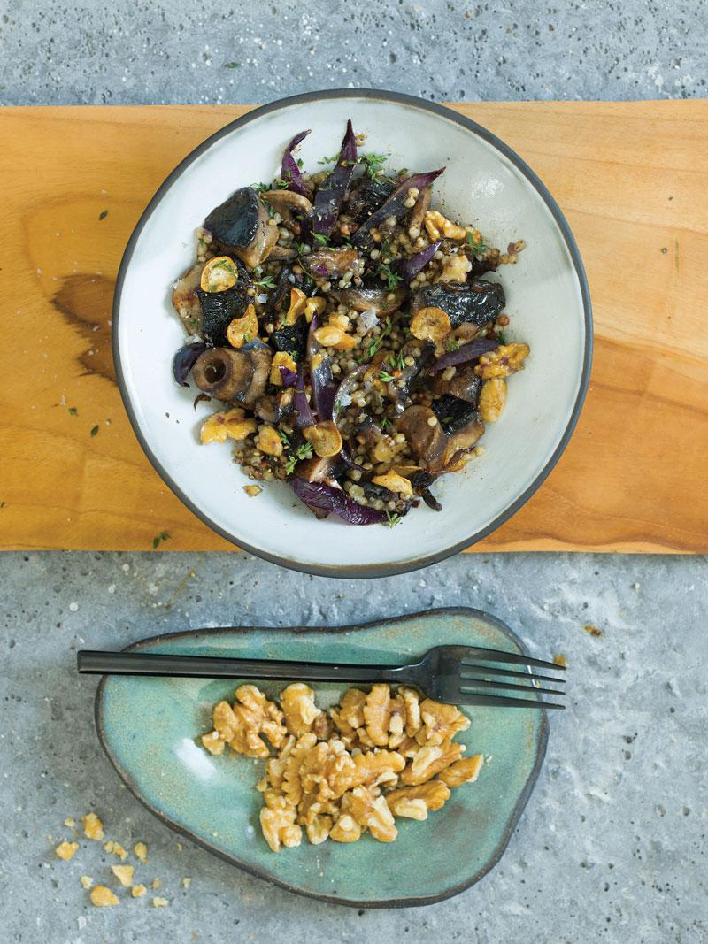 Sorghum 'Risotto' with Mushrooms & Walnuts