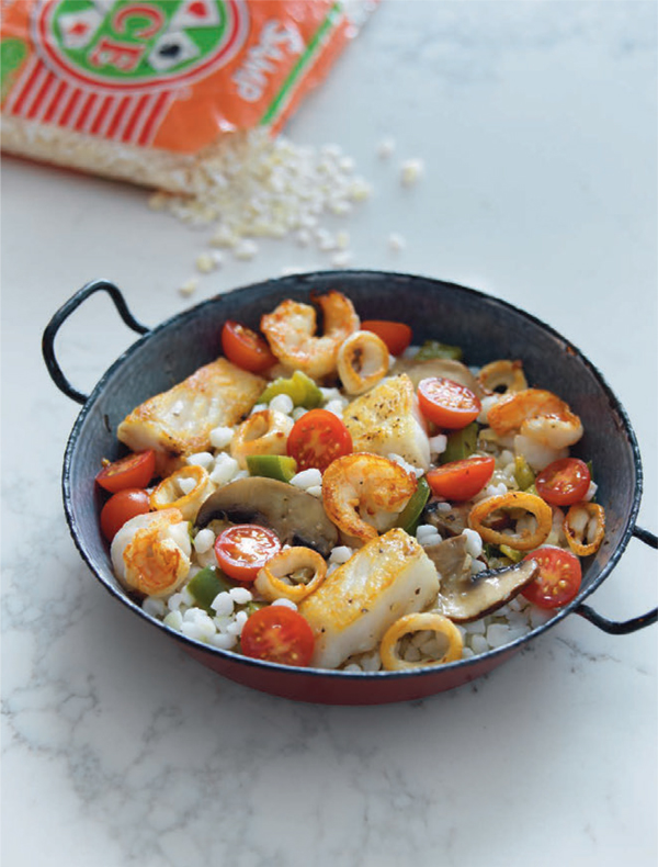 Seafood samp paella